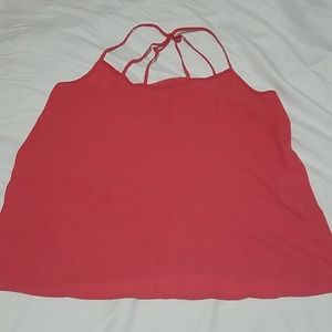 Abercrombie and Fitch strappy coral camisole